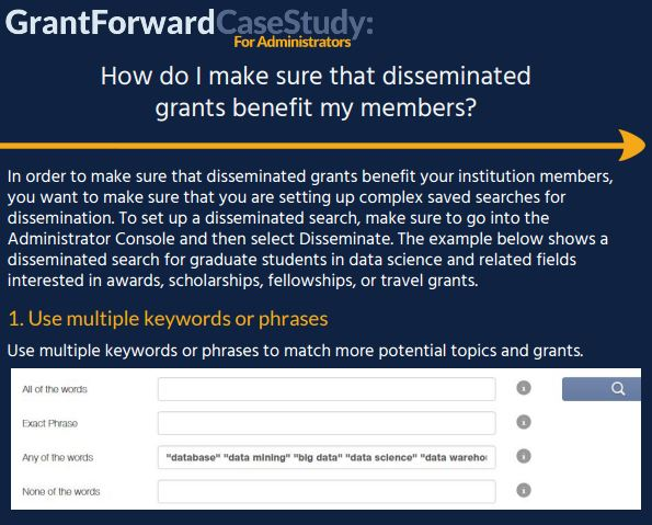 How do I make sure that disseminated grants benefit my members? Case Study Content Preview