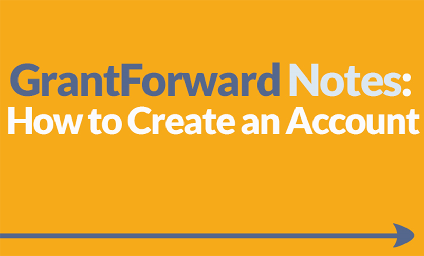 Download Slide about Creating a GrantForward Account