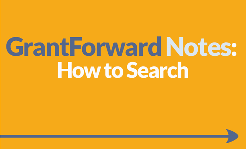Download Slide about How to Search on GrantForward