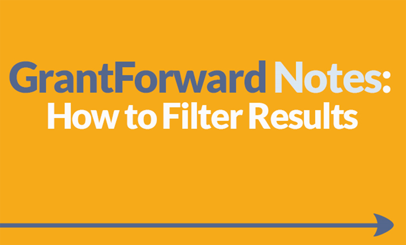 Download Slide about Using GrantForward Search Filters