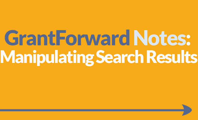 Download Slide about How to Manipulate Search Results on GrantForward