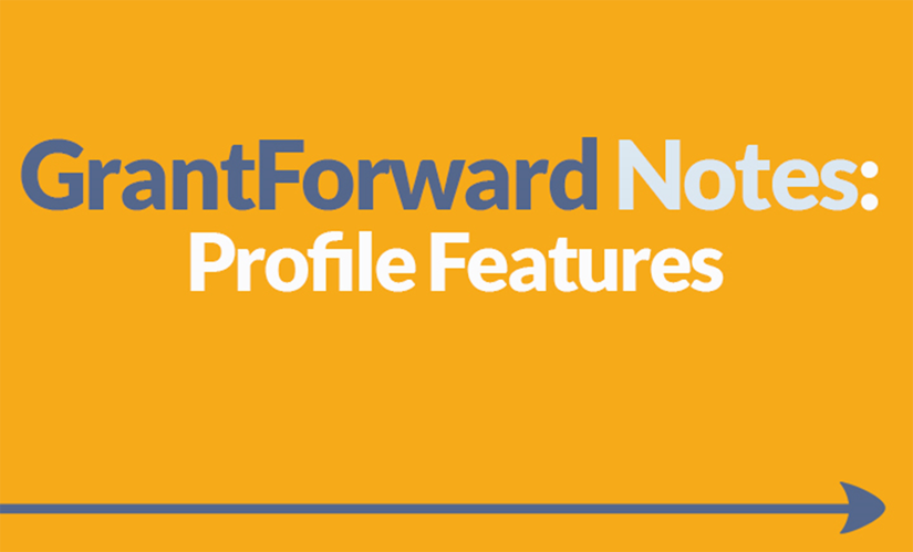 Download Slide about GrantForward Profile Features