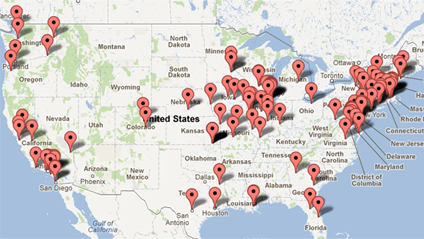 Grantforward Subscribers Map